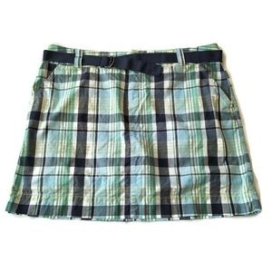 Plaid Skirt Skort Attached Shorts 16 XL golf belt